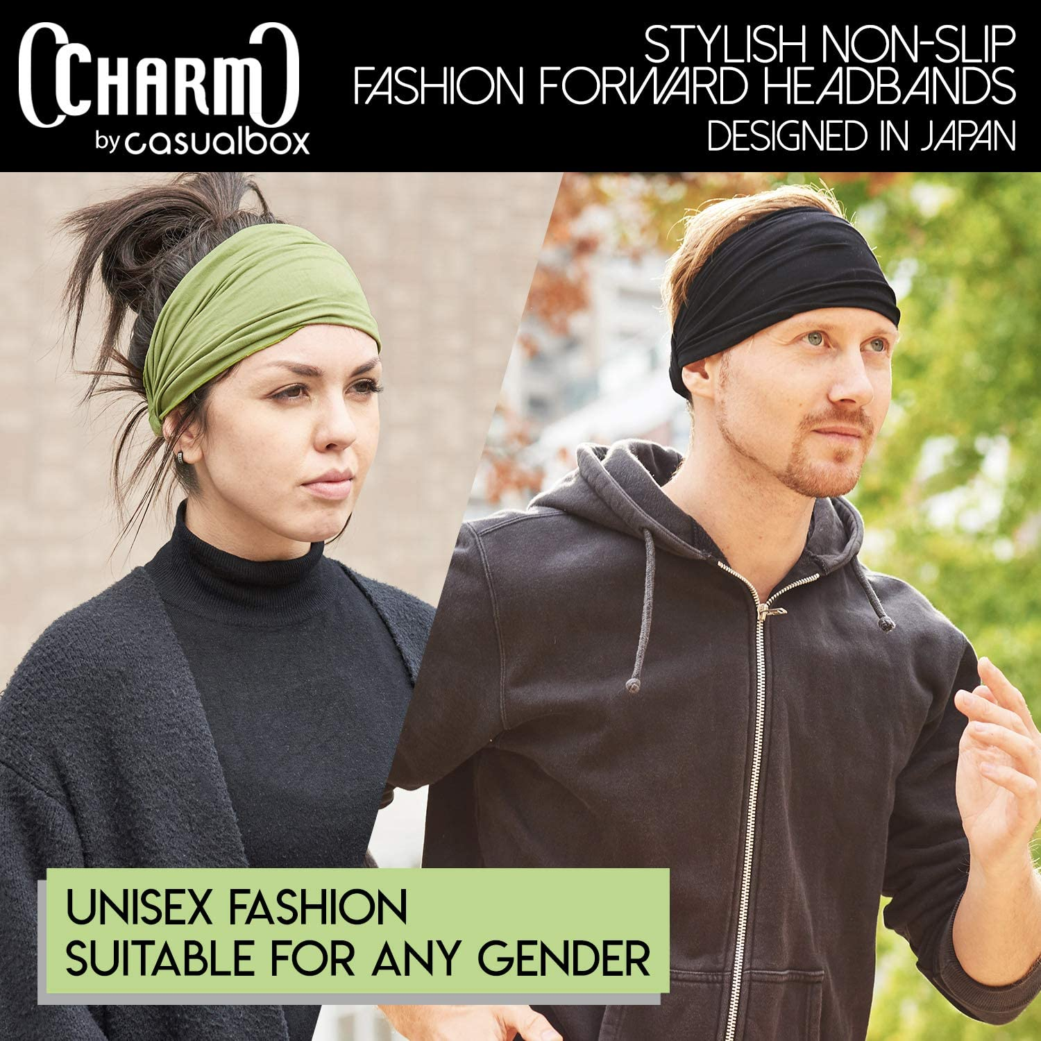 Japanese Bandana Headbands for Men and Women – Comfortable Head Bands with Elastic Secure Snug Fit Ideal Runners Fitness Sports Football Tennis Lightweight Brown