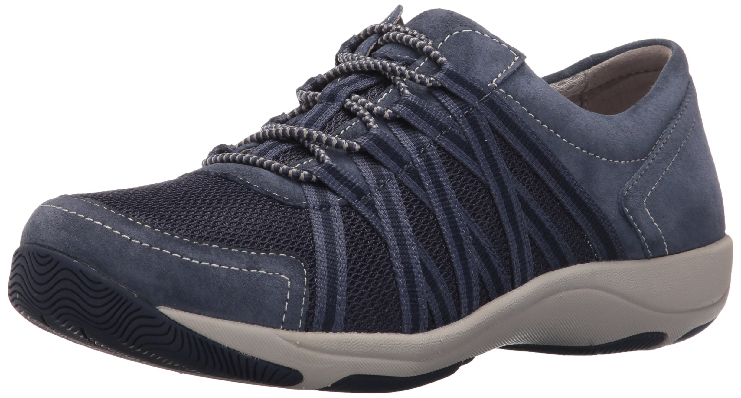 Dansko Women's Honor Sneaker, Blue Suede, 36 EU/5.5-6 M US