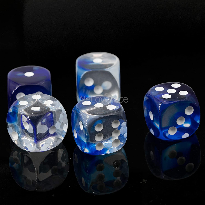 Made in Germany! WeLoveBeads W6 W/ürfel kristall blau 5Stk wei/ß