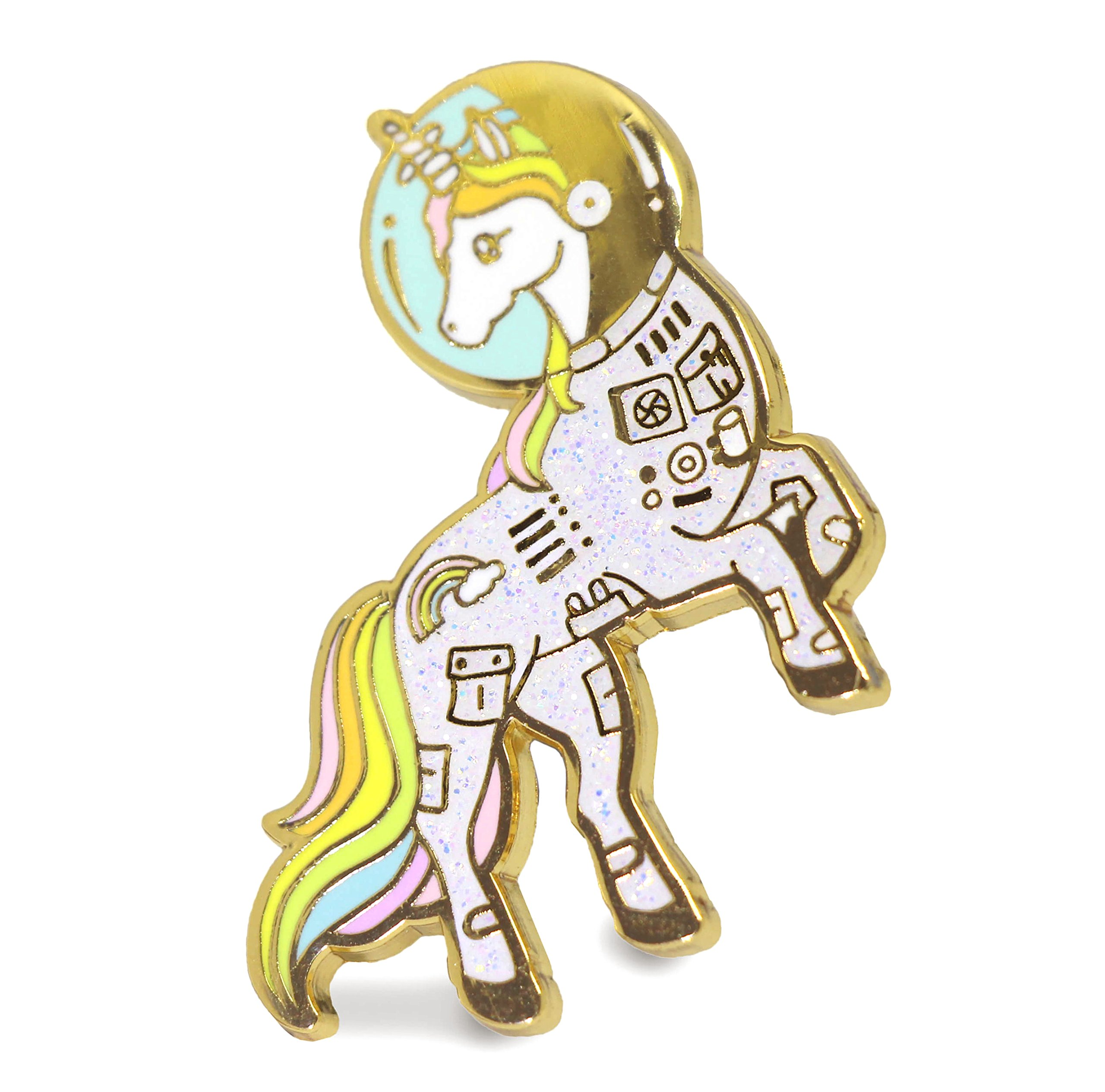 Unicorn Enamel Pin Astronaut Space Unicorn In a Suit Colorful Lapel Pin 3