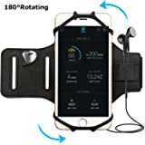 Simptech Running Phone Forearm Armband for iPhone 7/7 Plus/6/6S Plus,180°Rotatable Design Ideal for Sports Workout Jogging Campatible with Samsung Galaxy S8/S8 Plus/S7/S7 Edge