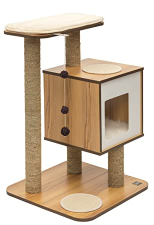 vesper cat furniture walnut v base cat safe furniture