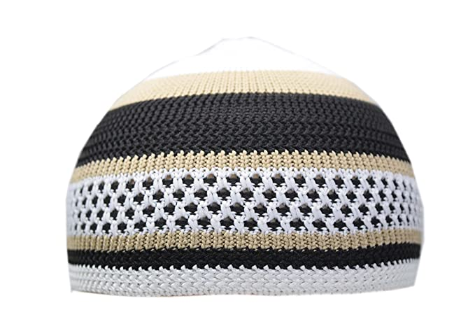 3438b4aa7914 Image Unavailable. Image not available for. Color: Manal Enterprises New Islamic  Kufi Prayer Cap Egyptian Mens Poly Cotton Muslim Hat Topi Namaz Beanies