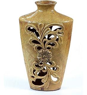 Privilege International 66595 Ceramic Pierced Vase, Large