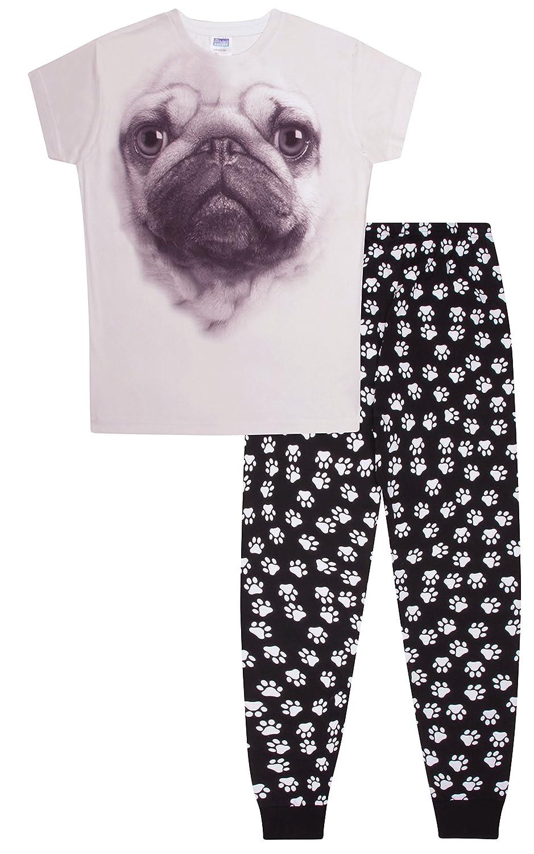ThePyjamaFactory Pug 3D Long Pyjamas Paw Print 9-14 Years