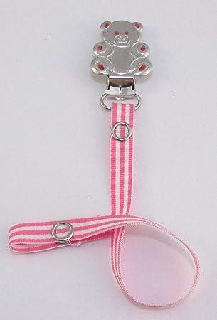 dummy pacifier clip baby girl explorer teddy bear clip