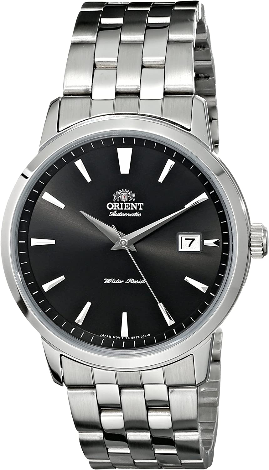 Orient Men s FER27009B0 Symphony Black Dial Automatic Stainless Steel Watch