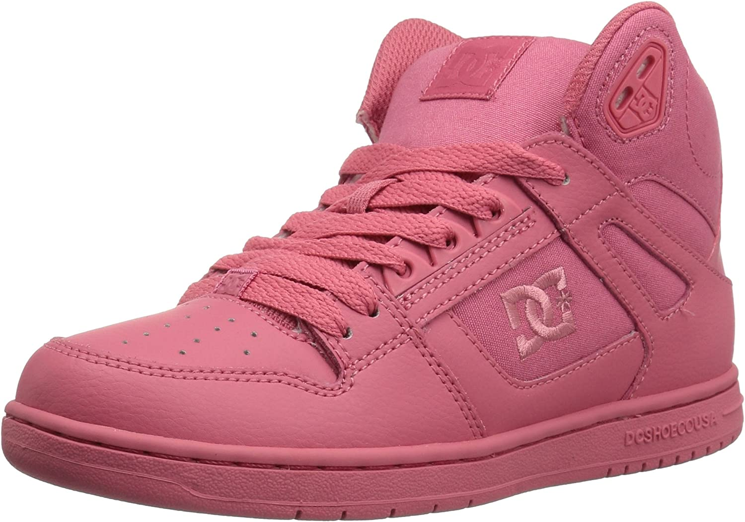 pink dc skate shoes