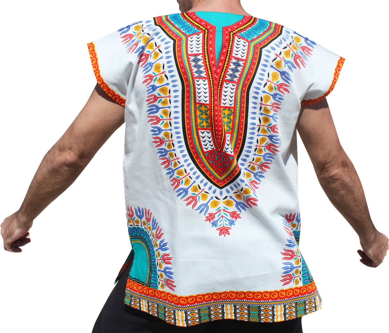 e43d07ffc60 ... RaanPahMuang Unisex Bright Cotton Africa Dashiki Afrikan Sleeveless Cap Shirt  Plus variant2149 ...