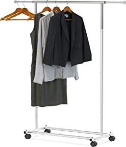 Simple Houseware Standard Rod Garment Rack, Silver