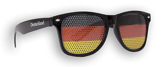 10 x - Fanbrille - Sonnenbrille �?Deutschland Weiß - Brille - Schwarz - Schwarz Rot Gold - Germany - Fan Artikel