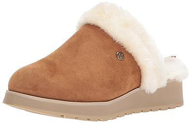 Skechers BOBS Women's Keepsakes High-Snow Magic Slip On Slipper, Chestnut,  ...