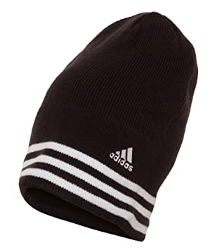adidas Power 3S Mens Winter Knitted Beanie Hat Black White One Size ... c5ce8c3209a