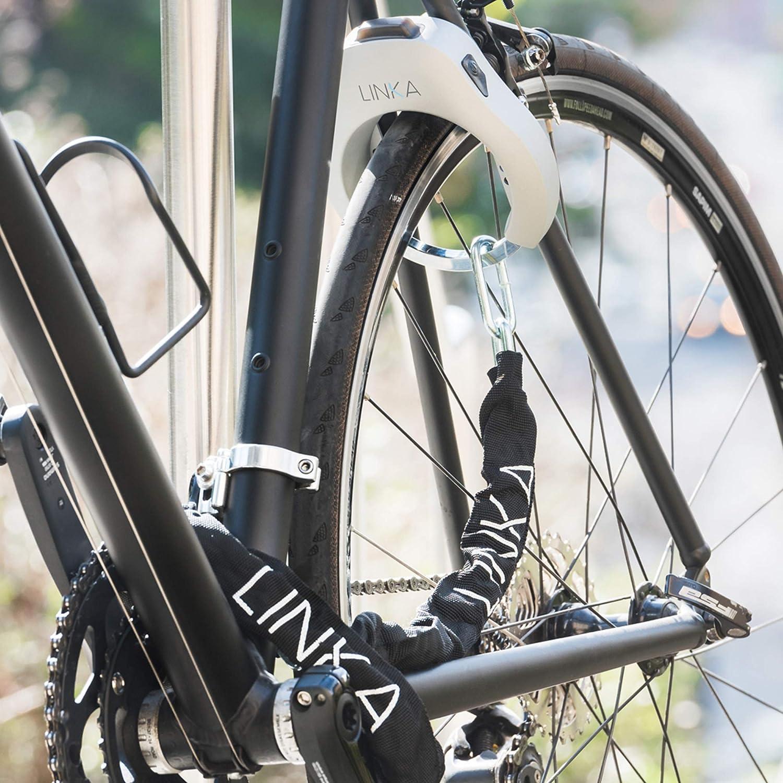 120cm Thickness schwarz//silberfarben LINKA Noose Chain Standard-Schlangenkette Length 6 mm