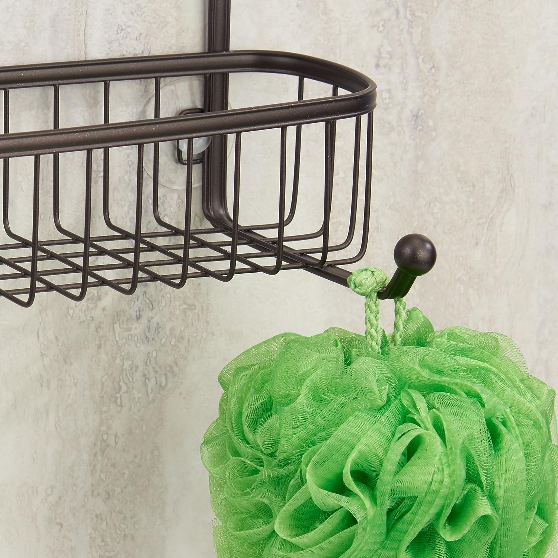mDesign Estanter ía de ducha para colgar  – Pr ácticos estantes para ducha 5769b23126fa