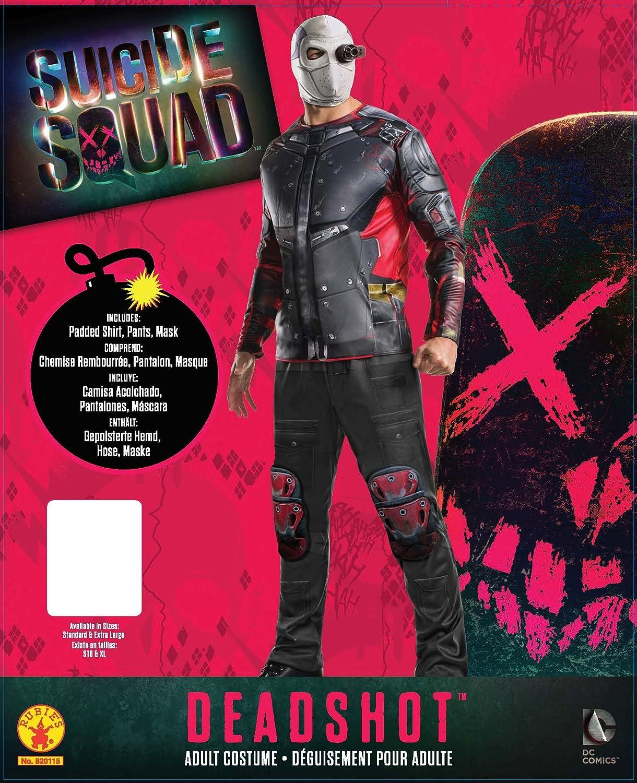 Disfraz oficial para adultos del Escuadrón Suicida de Deadshot de Rubie s  (XL)  Amazon.es  Juguetes y juegos 0f45d25789f1