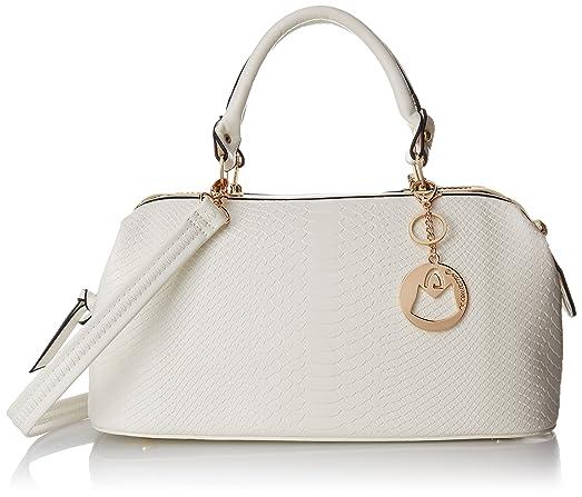cd5e751fe5ad Amazon.com: MG Collection Elpida Crocodile Shoulder Bag, White, One Size:  Shoes