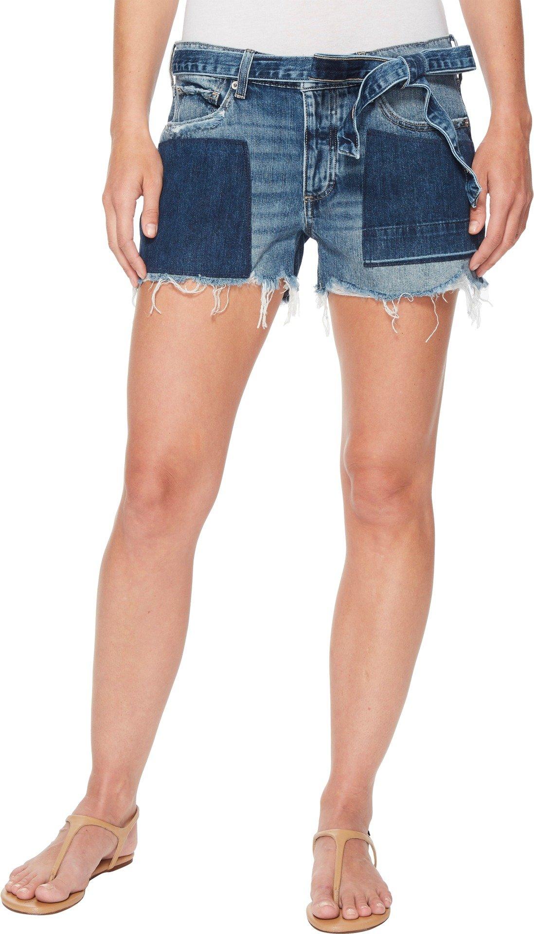 Lucky Brand Women's Low Rise Boyfriend Short Jean with Tie, Sidney, 29