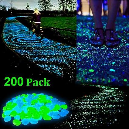 Glowing Garden Stones Amazon zesgood 200pcs glow in the dark garden pebbles stone zesgood 200pcs glow in the dark garden pebbles stone for walkway yard and decor diy decorative workwithnaturefo
