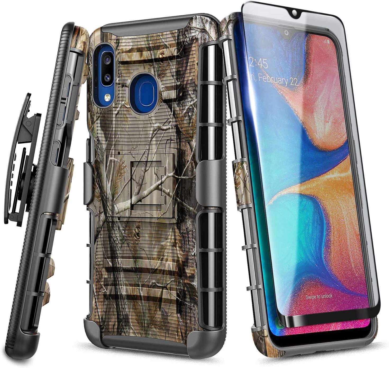 Samsung Galaxy A10e Belt Clip Shock Proof Phone Case Built in Screen Protector