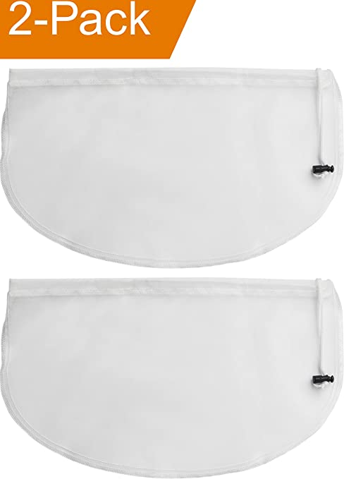 2-Pack Greek Yogurt Maker Strainer Pouch Bag, 16-in x 9-in Multi-Purpose Reusable Fine Mesh Nut Milk Bag, Cold Brew Coffee Filter Bags, Cheese Cloth ...