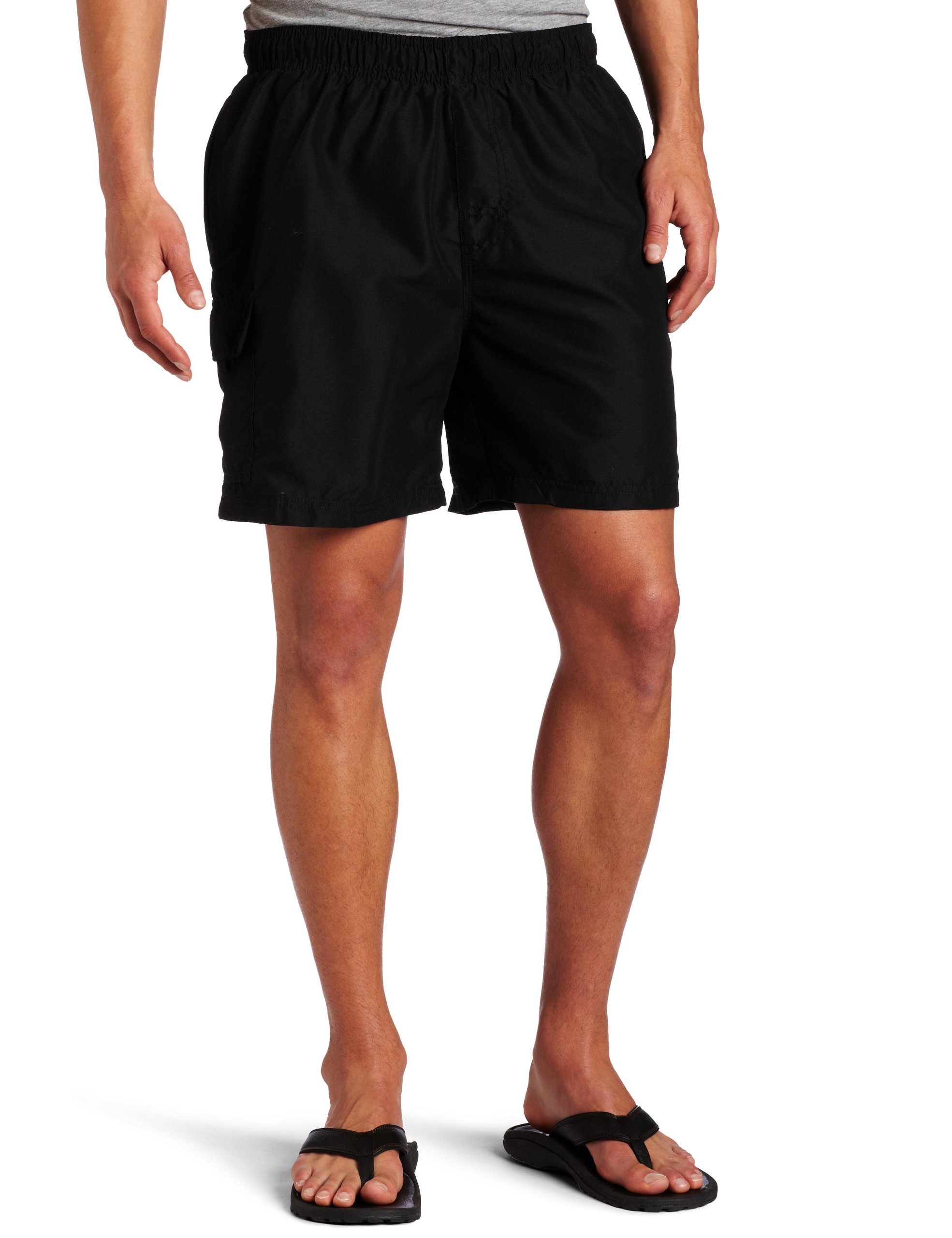 Kanu Surf Men's Havana Swim Trunks (Regular & Extended Sizes), Black, 3X by Kanu Surf