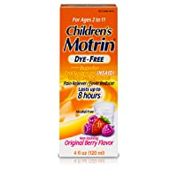 Children's Motrin Oral Suspension Medicine for Kids, 100mg Ibuprofen, Berry Flavored...