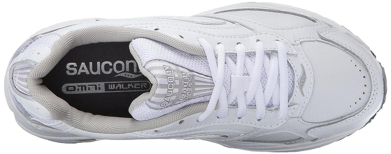 Saucony Women's Grid Omni Walker-W B001HX48PM 5 W|White/Silver