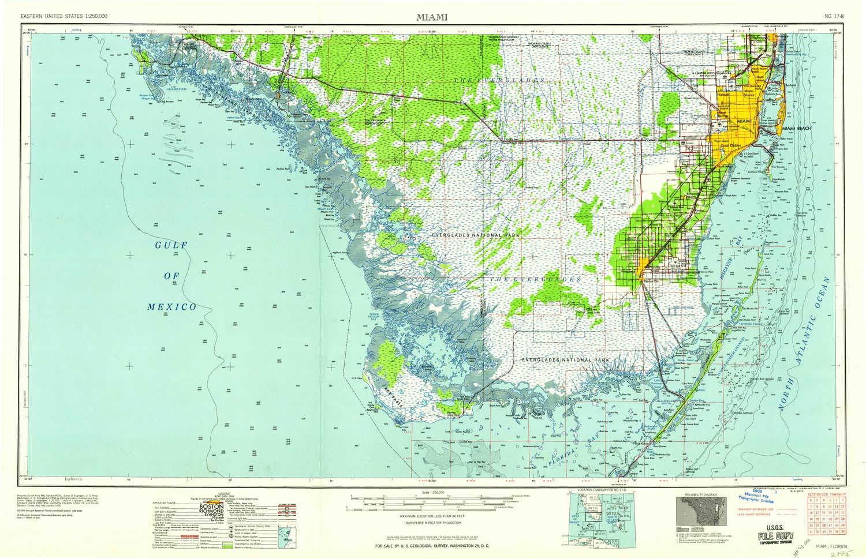 Amazoncom Yellowmaps Miami Fl Topo Map 1250000 Scale 1 X 2 - Miami-us-map