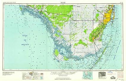 Amazon.com : YellowMaps Miami FL topo map, 1:250000 Scale, 1 ...