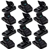 Kat Sense Rat Traps for House (12 Pack) Humane Rodent Trap for Instant Kill Results, Easy to Use Mouse Traps, Effective Anti-