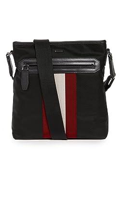 bdd2d9efccf Amazon.com | Bally Men's Currios Messenger Bag, Black, One Size ...