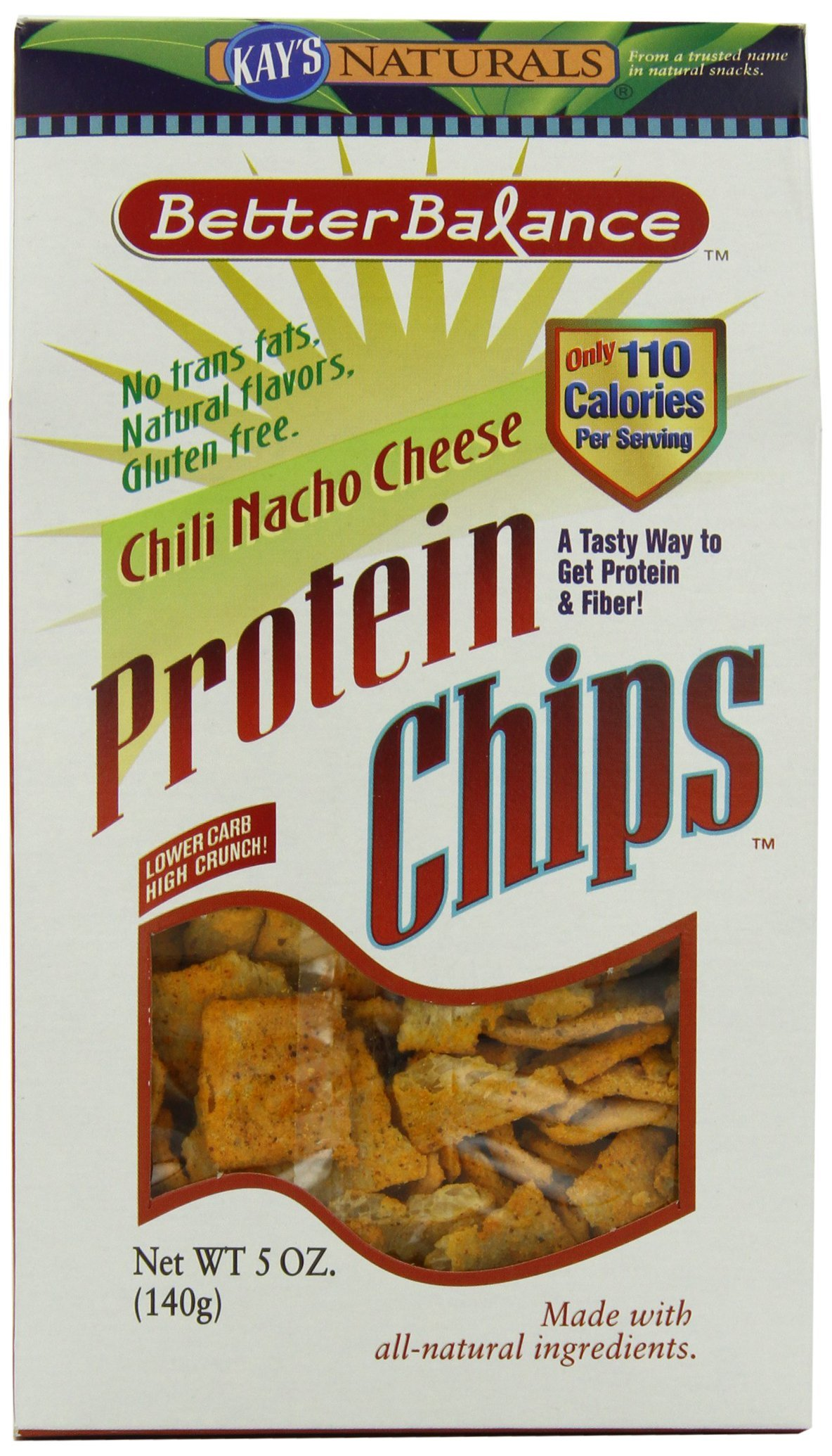 Kay's Naturals Protein Chips, Chili Nacho Cheese, Gluten-Free, 5 Ounce (Pack of 12)