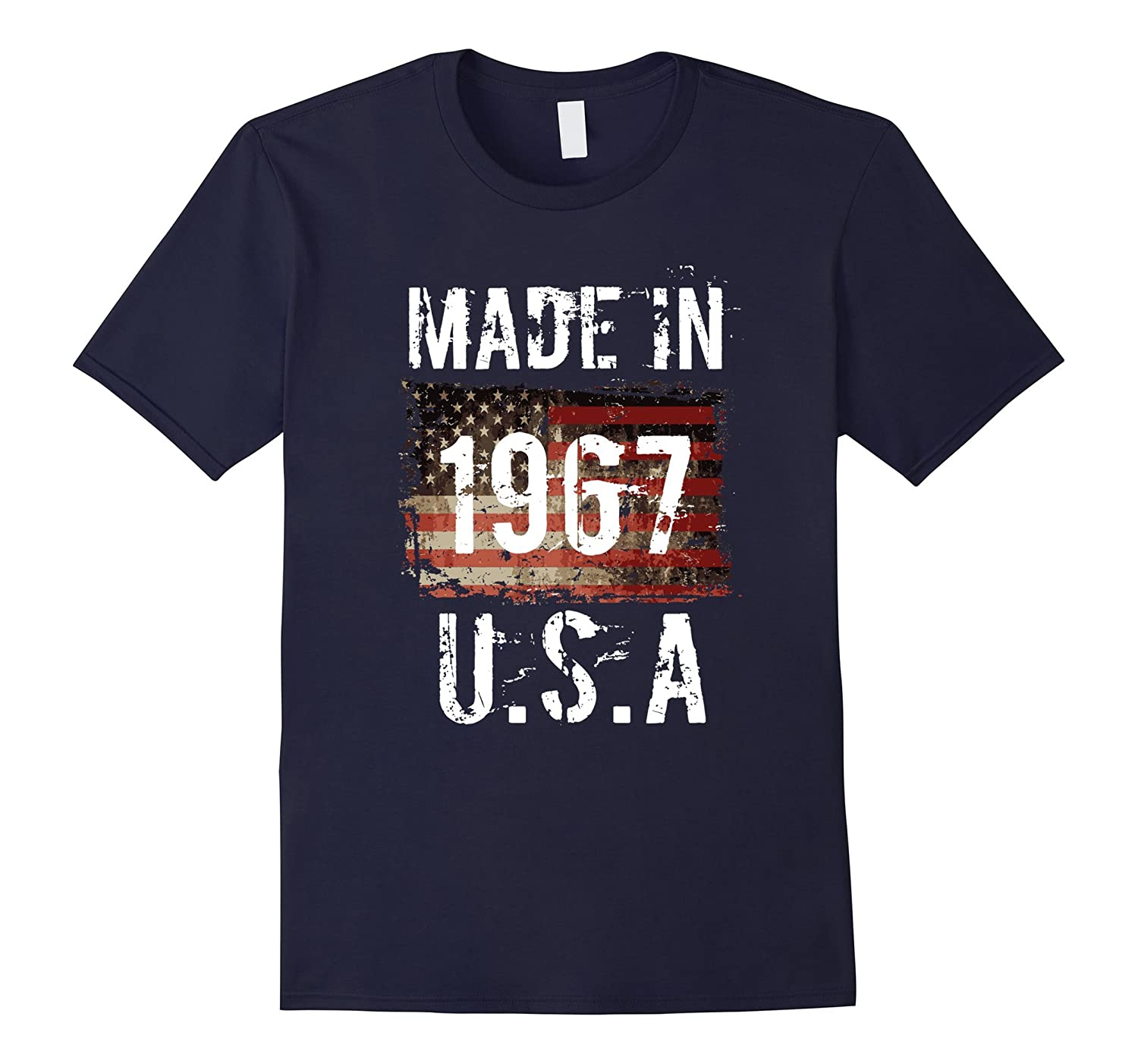Made in 1967 US American Flag 50th Birthday Gift T