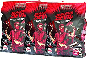 Jealous Devil 100% All Natural Hardwood Lump Charcoal for Grilling and Smoking, 35 Pounds (3 Pack)