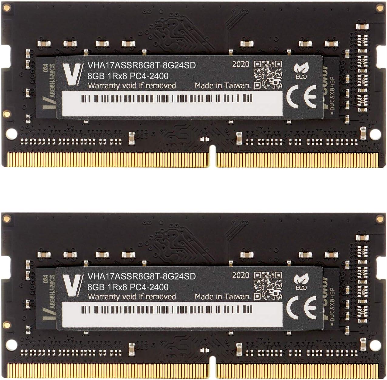 v-Color 16GB Kit(2x8GB) RAM 2400MHz (PC4-19200) Upgrade for Apple iMac 2017 27-inch w/Retina 5K Display, 2017 iMac 21.5-inch w/Retina 4K or Non-Retina Display DDR4 CL17 1.2V SO-DIMM (TN48G24S817K-VC)