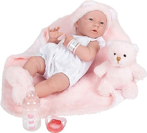 JC Toys La Newborn Anatomically Correct Girl Baby (Pink), 15