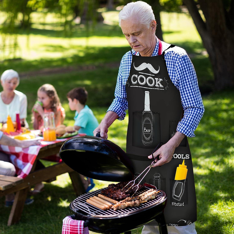 Ici cuisine Papa-Barbecue Tablier Cuisine Barbecue Kochschürze FUN-CADEAU