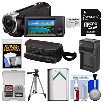 Sony Handycam HDR-CX440 8GB Wi-Fi 1080p HD Video Camera Camcorder with 32GB  Card + Case + Battery & Charger + Tripod + Kit