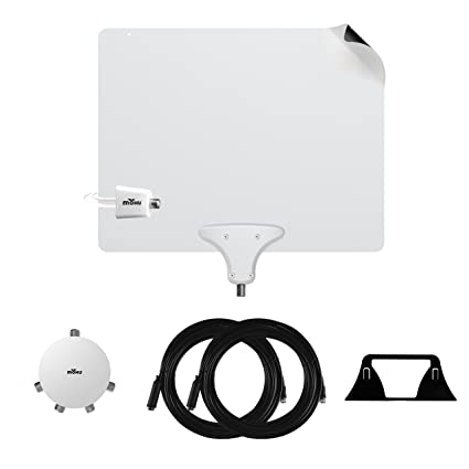 Mohu Leaf 50 Premium TV Antenna Multi-room Value Pack with Jolt 4-way