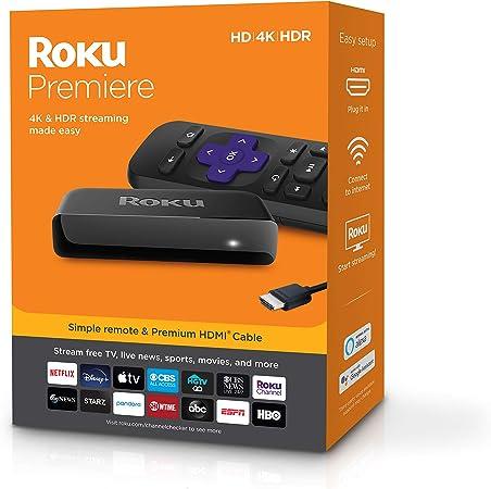 Roku Premiere HD 4K HDR Streaming Media Playe