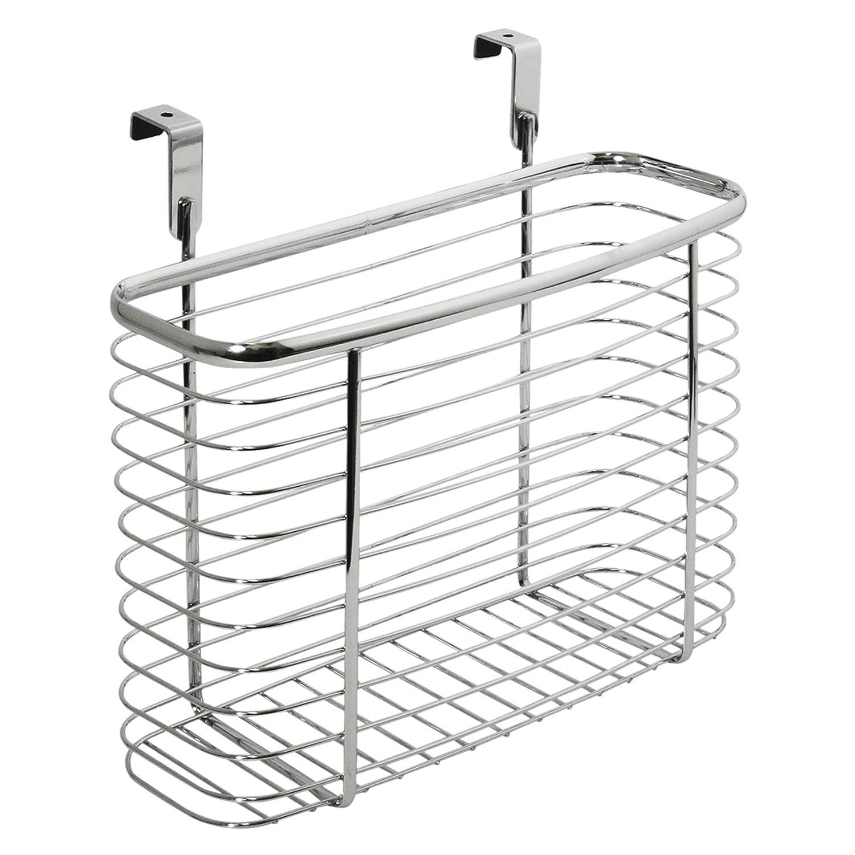 Amazon.com: InterDesign Axis Over The Cabinet Kitchen Storage Organizer  Basket For Aluminum Foil, Sandwich Bags, Cleaning Supplies   Medium,  Chrome: Home U0026 ...