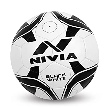 Nivia Black  amp; White Football   Size 5