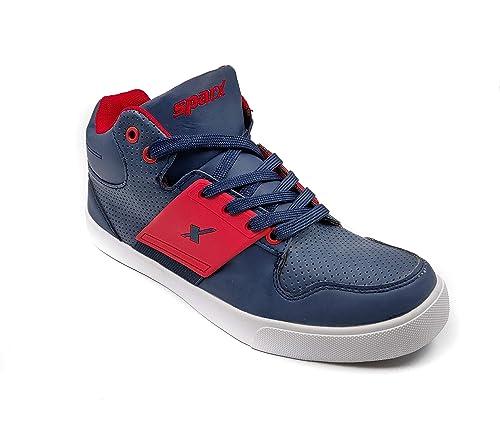 Buy Sparx Men Navy Red Sneakers at