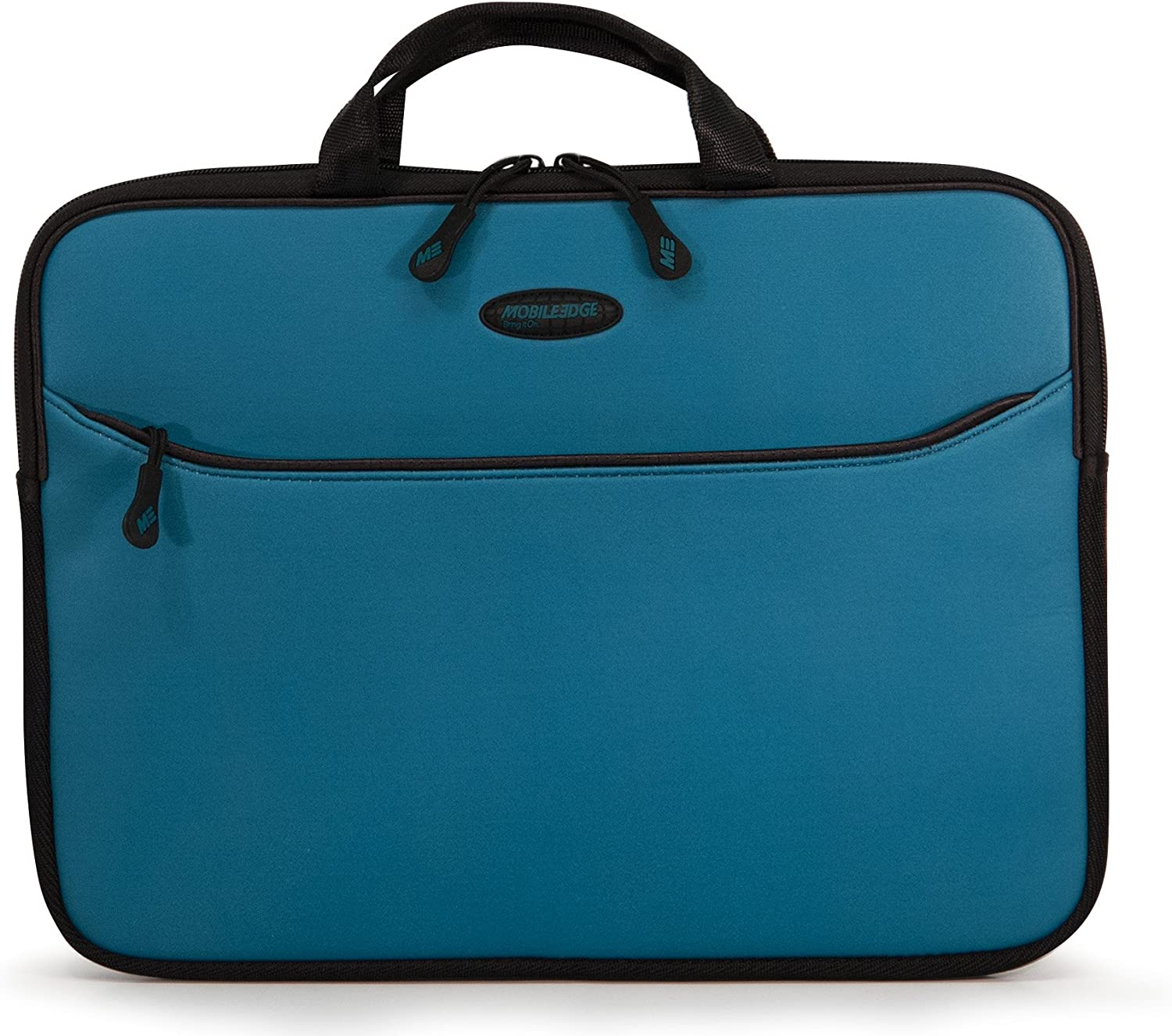 Mobile Edge SlipSuit, Cushioned EVA Laptop Sleeve w/Handle, 14 Inch Screens, Large Zippered Exterior Pocket, Water-Resistant, Teal MESS9-14