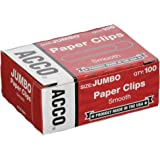 ACCO Paper Clips, Economy, Smooth, Jumbo, 100 Clips Per Box, 10 BOX VALUE PACK!