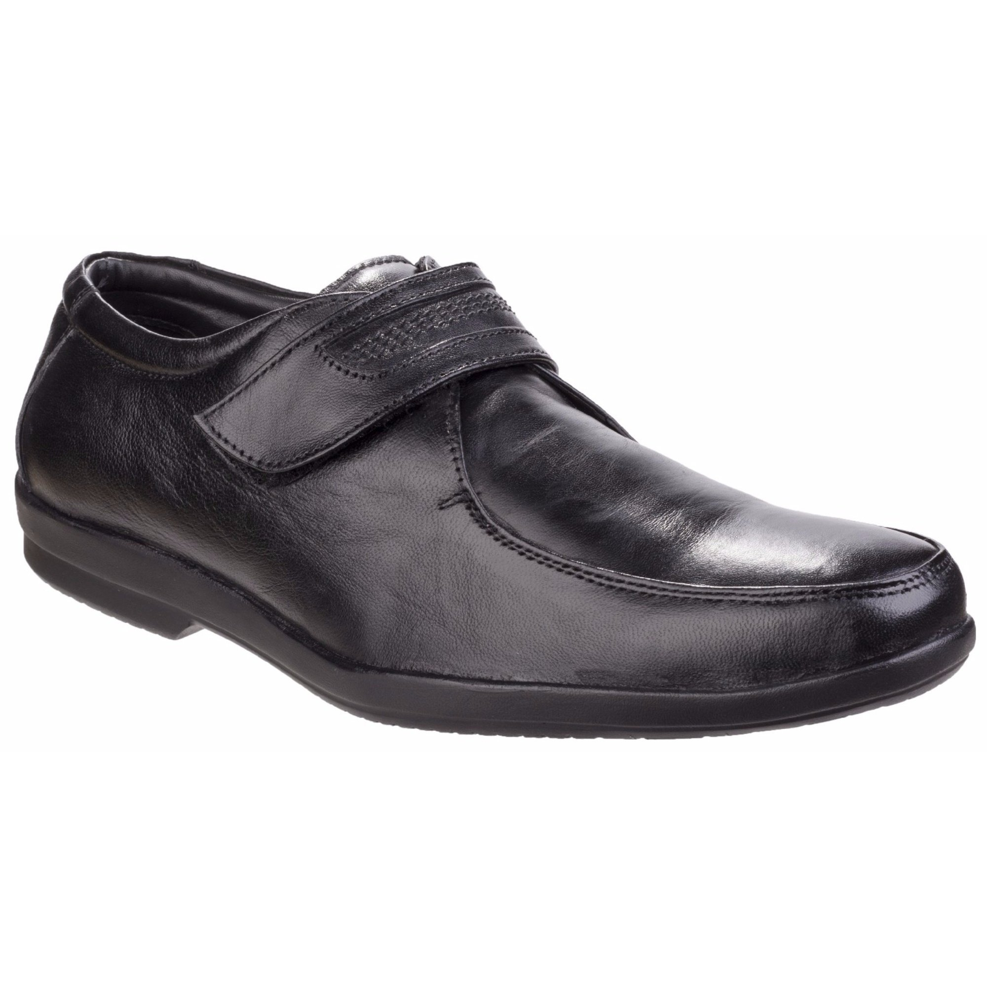 Fleet & Foster Mens Jim Touch Fastening Apron Toe Shoes (12 US) (Black)