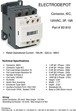 18A Contactor 3 Pole 220V 240V Coil Motor 18Amp Lighting 32A 20A 600V DIN only