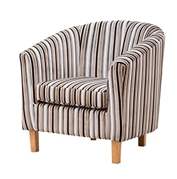 Outstanding Sofa Collection Fabric Tub Chair Armchair Seating Brown Available Grey Stripe 70X76X73 Cm Home Interior And Landscaping Dextoversignezvosmurscom