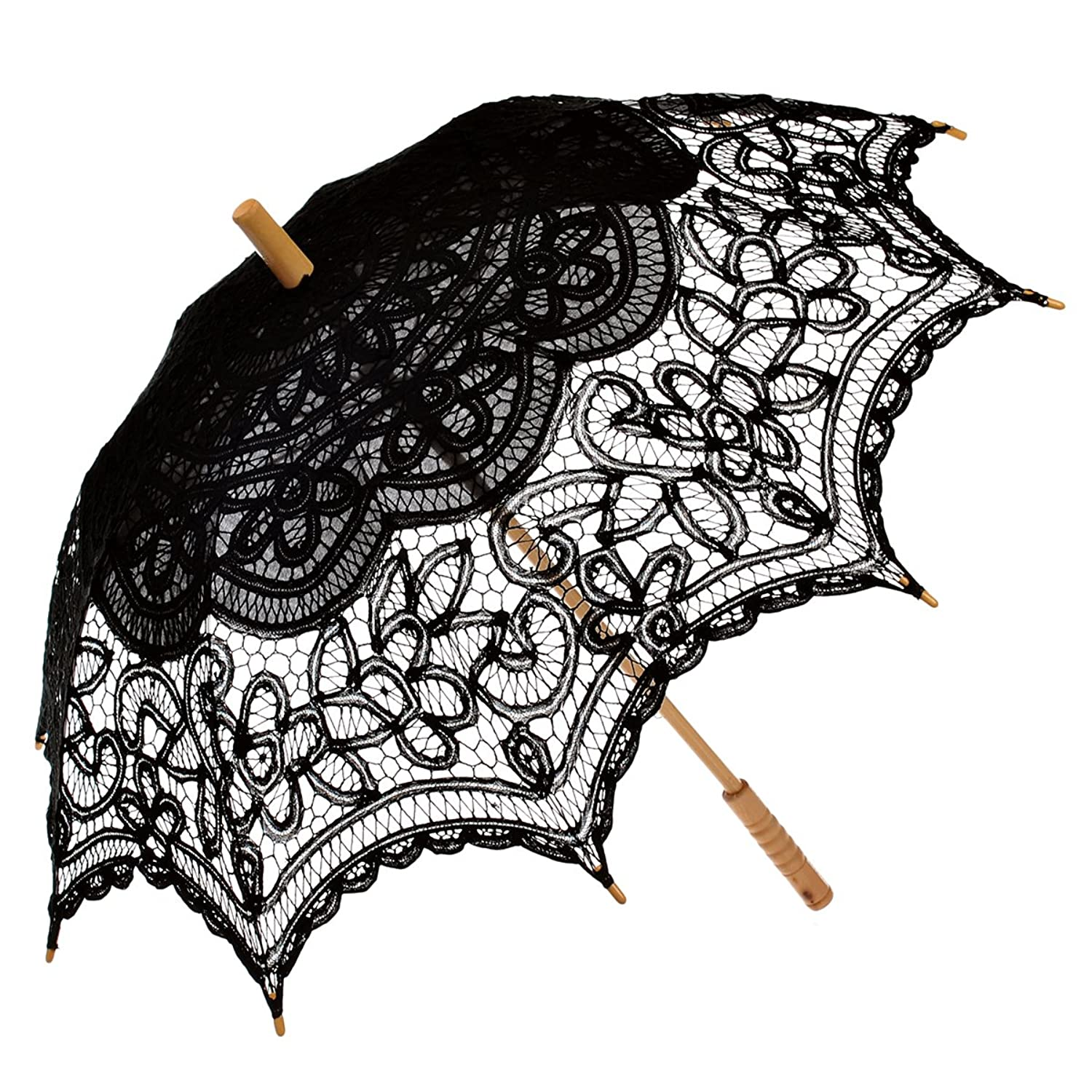 Make a Victorian Carriage Parasol  Lace Umbrella Photo Props Decoration                                             $24.99 AT vintagedancer.com